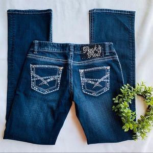 Rock and roll cowgirl denim jeans